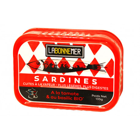 Sardines à la tomate et au basilic BIO