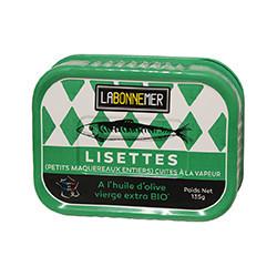 Lisettes à l'huile d'olive vierge extra BIO,