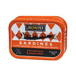 Sardines aux poivrons & piment BIO