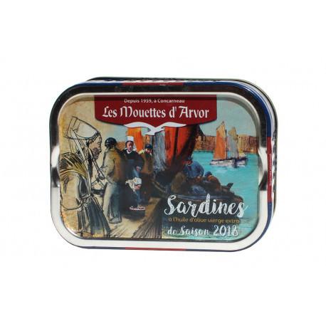 Sardines de saison  à l'huile d'olive millésime 2018