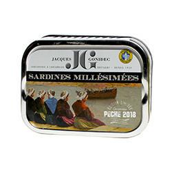 Sardines Millésimées 2018 à l'huile d'olive vierge extra BIO