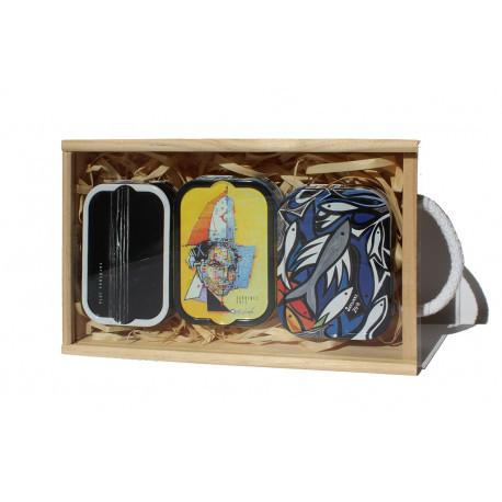 Assortiment de sardines millésimées à l'huile d'olive