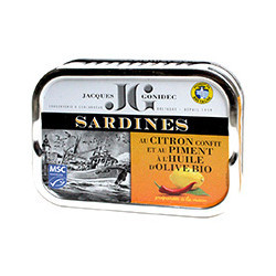 Sardines with preserved lemon and chilli