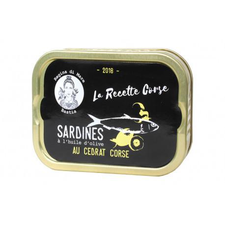 Sardines à l'huile d'olive vierge extra et au cédrat corse