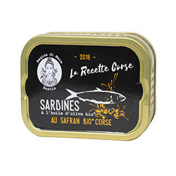 Sardines in organic olive oil with organic Corsican saffron