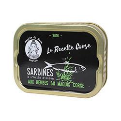 Sardines à l'huile d'olive vierge extra aux herbes du maquis corse