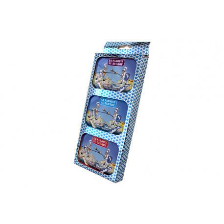 Coffret de 3 boîtes de sardines au beurre La Bonne Mer