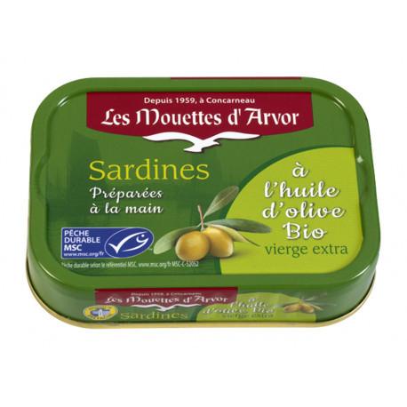 Sardines à l'huile d'olive vierge extra bio