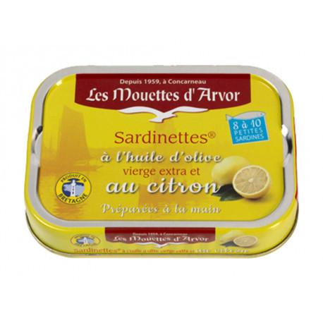 Sardinettes à l'huile d'olive et au citron
