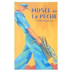 """""""Musée de la Pêche"""" postcard"""