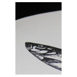 Petite assiette plate, poisson