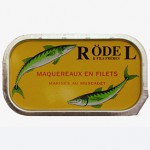 Maquereaux en filets au Muscadet, Rödel, France.