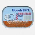 Fish steaks in louisiana hot sauce, 2007. Beach Cliff, USA.