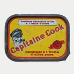 Sardines à l'huile d'olive, vers 1950, Capitaine Cook, France.