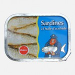Sardines à l'huile d'arachide, 1975, Casino, France.