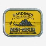 Sardines à l'huile végétale, Men-Meur, France.
